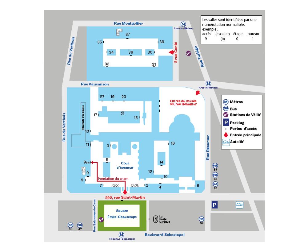 Plan d'accès fondation